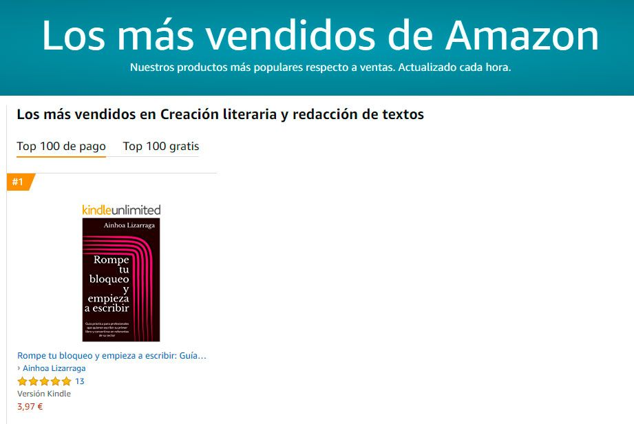 Best seller en Amazon- nº 1