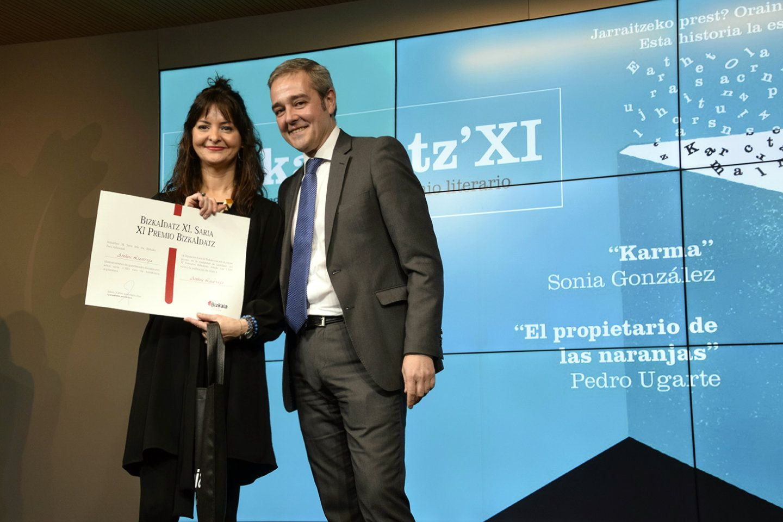 Ainhoa Lizarraga |Primer Premio Certamen literario Bizkaidatz Diputación Foral de Bizkaia